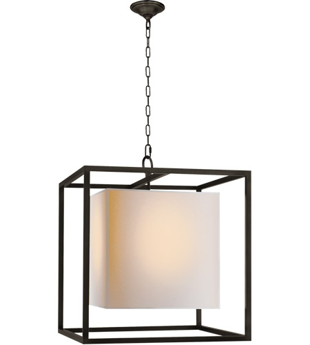 Visual Comfort SC5160BZ Eric Cohler Caged 2 Light 22 inch Bronze Foyer Pendant Ceiling Light photo