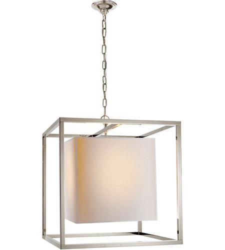 Visual Comfort Sc5160pn Eric Cohler Caged 2 Light 22 Inch Polished Nickel Foyer Pendant Ceiling