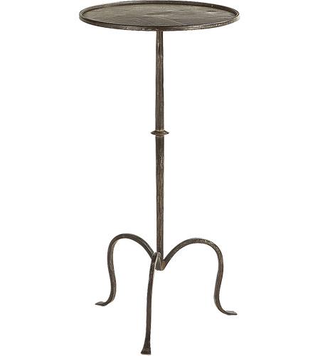 Visual Comfort Sf210ai Studio Martini 24 X 12 Inch Aged Iron Accent Table