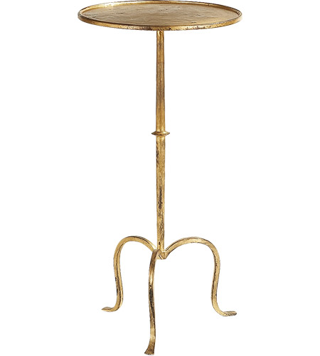 Visual comfort sf210gi studio martini 24 x 12 inch gilded for 12 inch accent table
