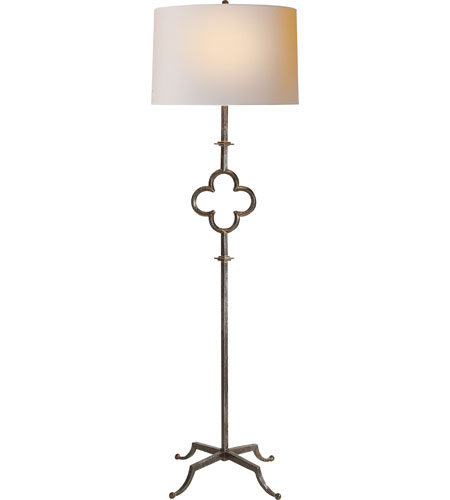 Visual Comfort SK1500AI-L Suzanne Kasler Quatrefoil 68 inch 75 watt Aged Iron with Wax Decorative Floor Lamp Portable Light photo