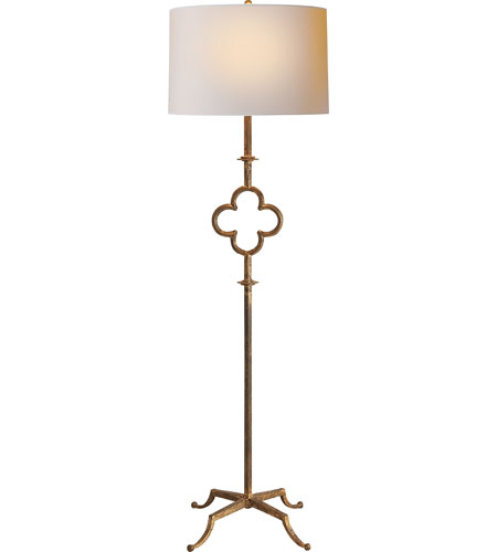 Visual Comfort Suzanne Kasler Quatrefoil 2 Light Decorative Floor Lamp in Gilded Iron with Wax SK1500GI-L photo