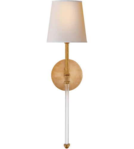 Visual Comfort SK2016HAB-NP Suzanne Kasler Camille 1 Light 6 inch Hand-Rubbed Antique Brass Sconce Wall Light, Suzanne Kasler, Camille, Natural Paper Shade photo