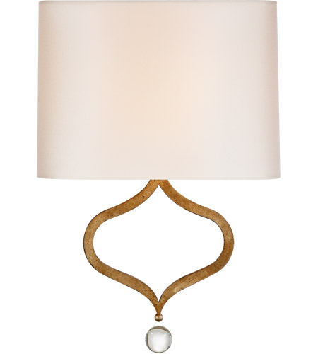 Visual Comfort SK2258GI-PL Suzanne Kasler Heart 1 Light 13 inch Gilded Iron Sconce Wall Light, Suzanne Kasler, Natural Percale Shade photo