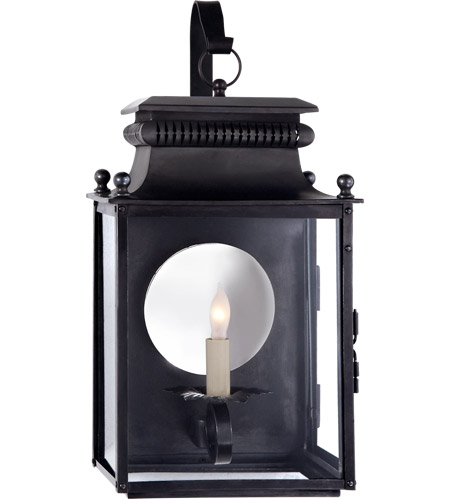 Visual Comfort Sk2350bc Suzanne Kasler Honore 1 Light 18 Inch Blackened Copper Outdoor Wall Lantern Small Bracketed Clear Gl