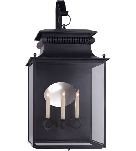 Visual Comfort SK2356BC Suzanne Kasler Honore 3 Light 33 inch Blackened Copper Outdoor Wall Lantern, Suzanne Kasler, Large, Bracketed, Clear Glass photo