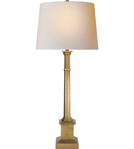 Visual Comfort SK3008HAB-NP Suzanne Kasler Josephine 33 inch 100 watt Hand-Rubbed Antique Brass Decorative Table Lamp Portable Light photo