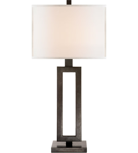 Visual Comfort SK3208AI-L Suzanne Kasler Mod 28 inch 150 watt Aged Iron Decorative Table Lamp Portable Light in Linen photo