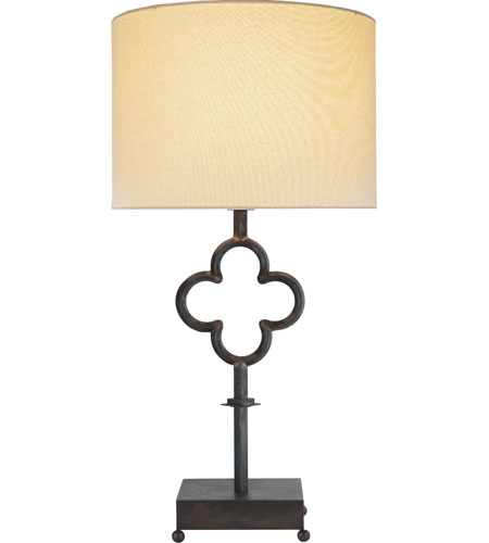 Visual Comfort SK3500AI-L Suzanne Kasler Quatrefoil 36 inch 150 watt Aged Iron with Wax Decorative Table Lamp Portable Light photo