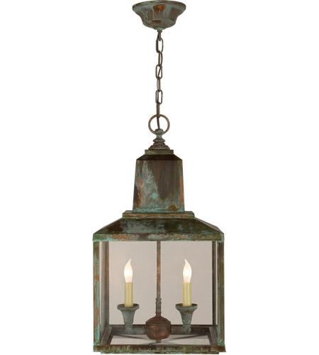 Visual Comfort SK5007VG Suzanne Kasler Brantley 2 Light 12 Inch Verdigris Outdoor  Hanging Lantern