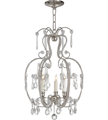 Visual Comfort Suzanne Kasler Hurley 3 Light Chandelier in Polished Nickel SK5100PN photo