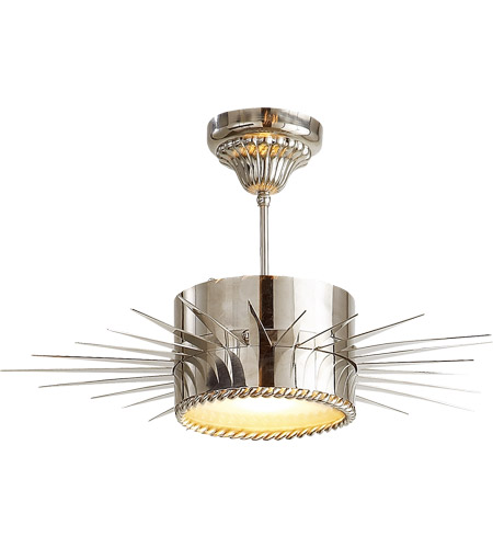 Visual Comfort SK5201PN Suzanne Kasler Soleil 1 Light 24 inch Polished Nickel Semi-Flush Mount Ceiling Light photo