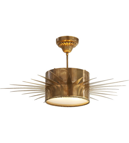 Visual Comfort SK5202HAB Suzanne Kasler Soleil 2 Light 28 inch Hand-Rubbed Antique Brass Semi-Flush Mount Ceiling Light photo