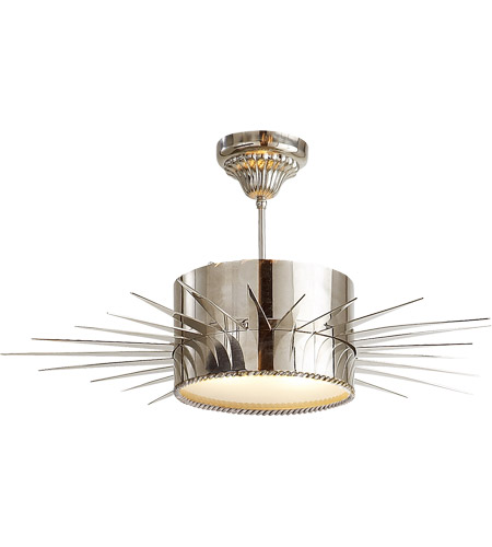 Visual Comfort SK5202PN Suzanne Kasler Soleil 2 Light 28 inch Polished Nickel Semi-Flush Mount Ceiling Light photo