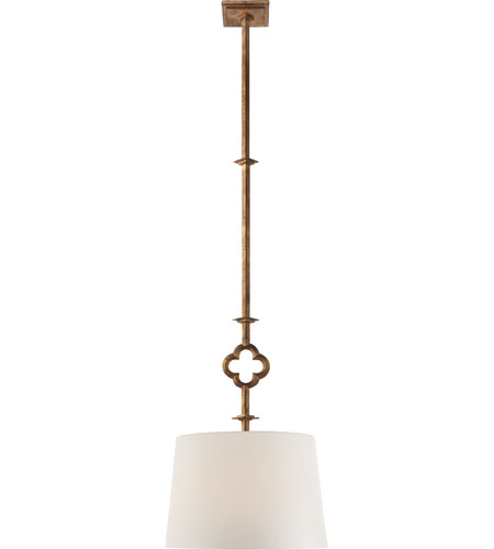 Visual Comfort SK5210GI-L Suzanne Kasler Quatrefoil 2 Light 16 inch Gilded Iron with Wax Hanging Shade Ceiling Light photo