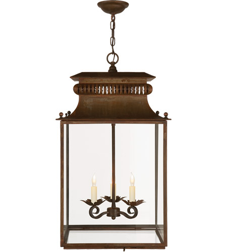 Vintage Foyer Light Fixtures: Visual Comfort SK5301AZ Suzanne Kasler Honore 3 Light 16