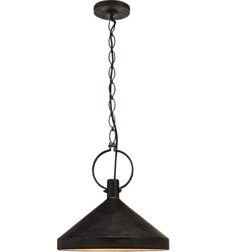 Visual Comfort SK5363NR-AI Suzanne Kasler Limoges 1 Light 17 inch Natural Rusted Iron Pendant Ceiling Light in Aged Iron, Large photo