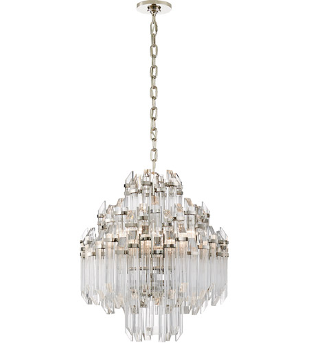 Visual Comfort SK5424PN-CA Suzanne Kasler Adele 6 Light 20 inch Polished Nickel Chandelier Ceiling Light, Suzanne Kasler, Four-Tier, Waterfall, Clear Acrylic Shade photo
