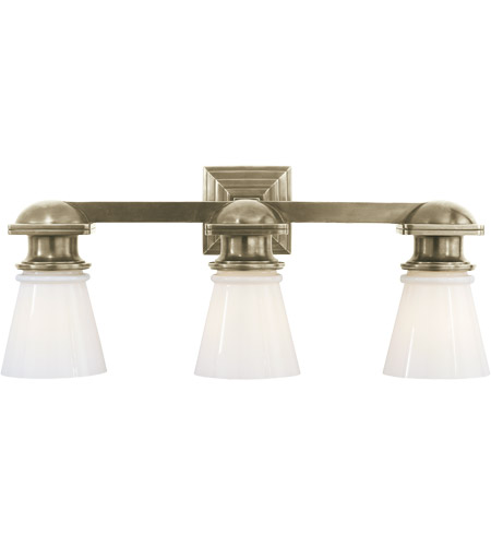 Visual Comfort SL2153AN-WG E. F. Chapman New York Subway 3 Light 23 inch Antique Nickel Bath Wall Light photo
