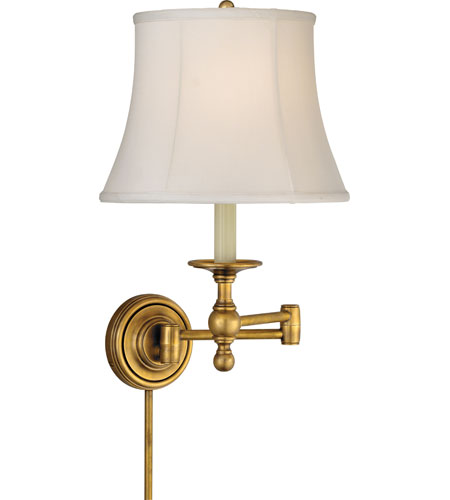 Visual Comfort SL2800HAB-S E. F. Chapman Classic 19 inch 100 watt Hand-Rubbed Antique Brass Swing-Arm Wall Light photo
