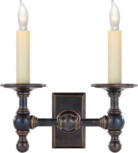 Visual Comfort SL2814BZ E. F. Chapman Classic 2 Light 10 inch Bronze Decorative Wall Light photo