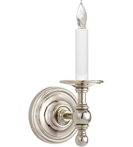 Visual Comfort E.F. Chapman Classic 1 Light Decorative Wall Light in Polished Nickel (Shade Sold Separately) SL2815PN photo