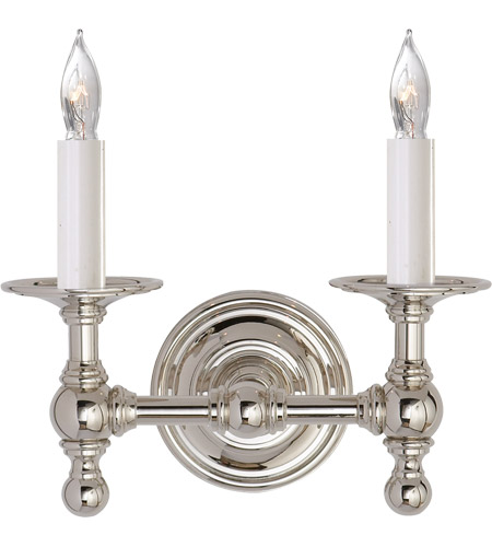 Visual Comfort SL2816PN E. F. Chapman Classic 2 Light 11 inch Polished Nickel Decorative Wall Light photo