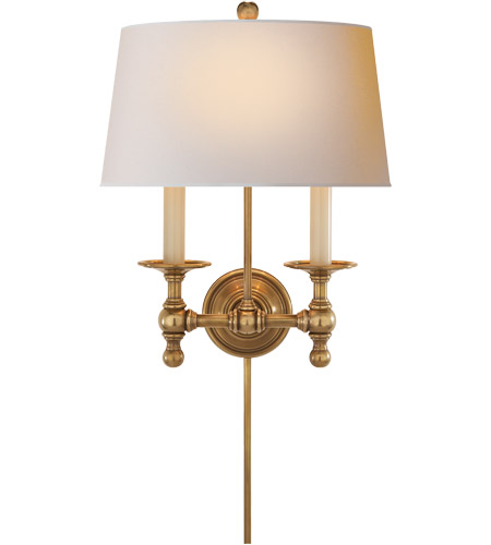 Visual Comfort SL2817HAB-NP E. F. Chapman Classic 2 Light 13 inch Hand-Rubbed Antique Brass Decorative Wall Light photo