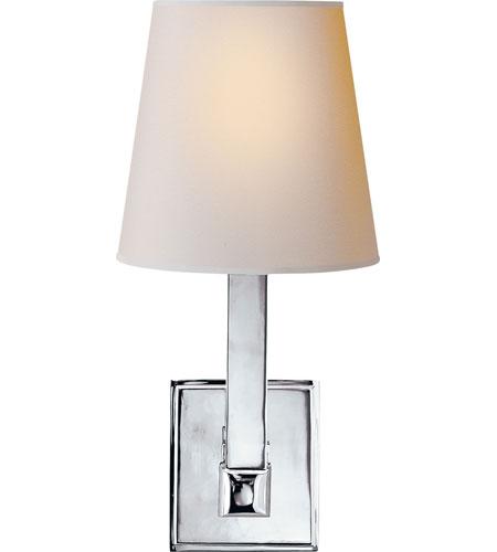 Led Wall Light Square : Visual Comfort SL2819PN-NP E. F. Chapman Square Tube 1 Light 6 inch Polished Nickel Decorative ...