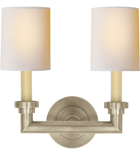 Visual Comfort SL2846AN-NP E. F. Chapman Wilton 2 Light 13 inch Antique Nickel Decorative Wall Light photo