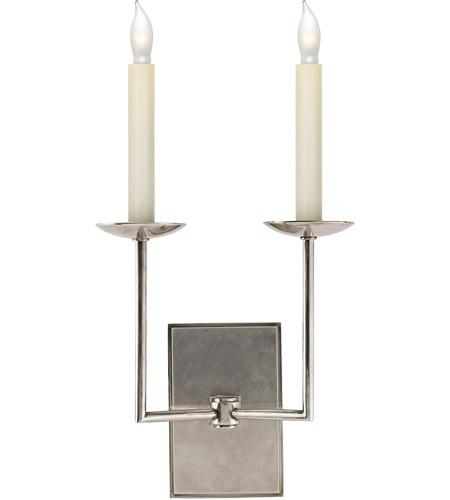 Visual Comfort SL2866AN E. F. Chapman Right Angle 2 Light 10 inch Antique Nickel Decorative Wall Light photo