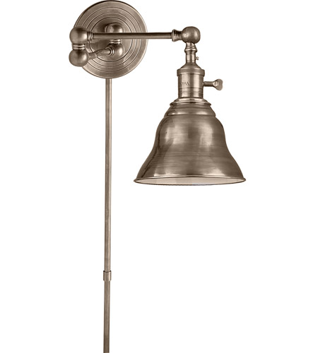 visual comfort e f chapman boston 13 inch 60 watt antique nickel swingarm wall sconce wall light