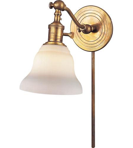 Visual Comfort E F Chapman Boston 1 Light Bath Wall Light In Hand Rubbed Antique Brass