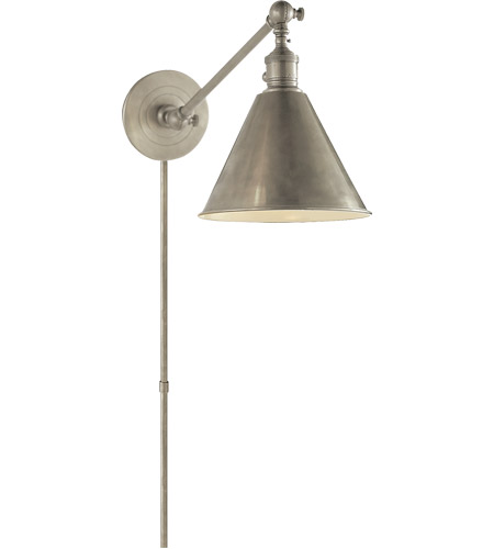 Visual Comfort SL2922AN E. F. Chapman Boston 18 inch 60 watt Antique Nickel Single Arm Library Light Wall Light photo