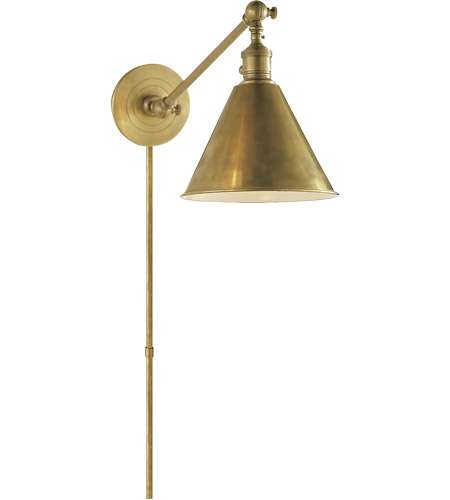 Wall Sconce Task Light : Visual Comfort E.F. Chapman Boston 1 Light Task Wall Light in Hand-Rubbed Antique Brass SL2922HAB