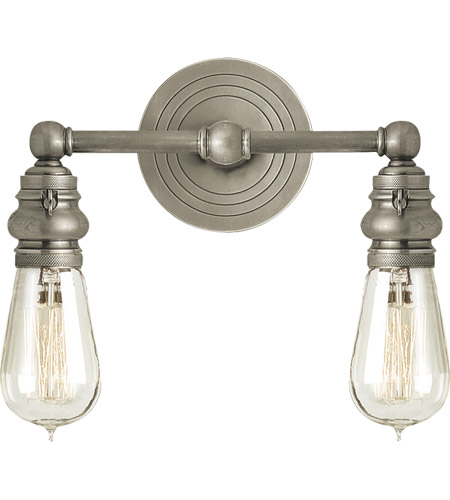 Visual Comfort SL2932AN E. F. Chapman Boston 2 Light 12 inch Antique Nickel Wall Light photo