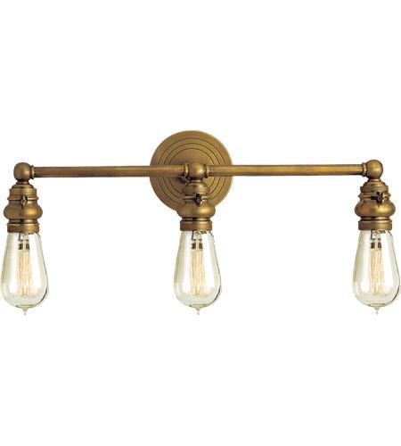 Visual Comfort Sl2933hab E F Chapman Boston 3 Light 23 Inch Hand Rubbed Antique Brass Bath