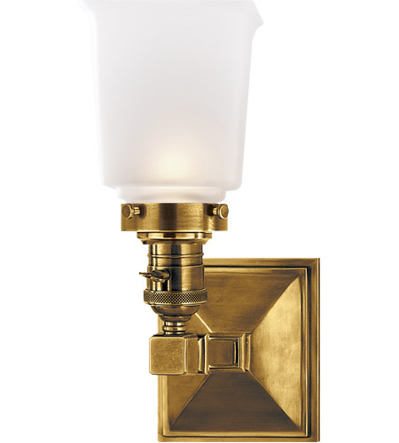 Visual Comfort SL2941HAB-FG E. F. Chapman Boston 1 Light 5 inch Hand-Rubbed Antique Brass Wall Light photo