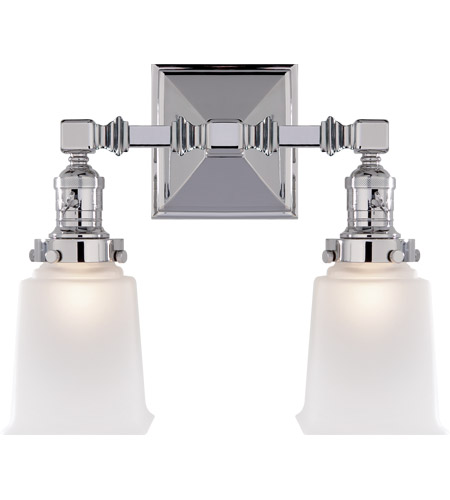 Visual Comfort SL2942CH-FG E. F. Chapman Boston 2 Light 14 inch Chrome Wall Light photo