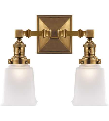 Visual Comfort SL2942HAB-FG E. F. Chapman Boston 2 Light 14 inch Hand-Rubbed Antique Brass Wall Light photo
