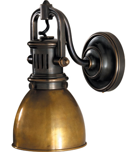 Visual Comfort SL2975BZ HAB E. F. Chapman Yoke 1 Light 5 Inch Bronze  Suspended Wall Sconce Wall Light In Hand Rubbed Antique Brass
