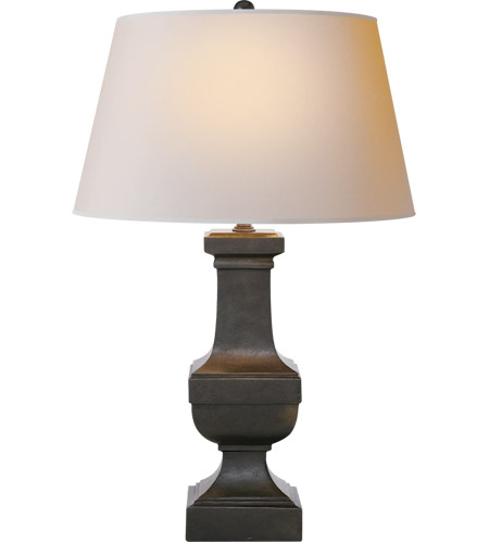 Visual Comfort SL3338AI-NP E F Chapman Balustrade 28 inch 150 watt Aged Iron Decorative Table Lamp Portable Light in Natural Paper  photo