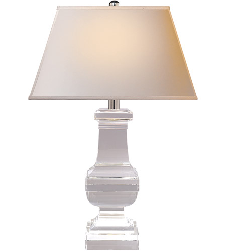 Visual Comfort SL3338CG-NP E F Chapman Balustrade 28 inch 150 watt Crystal Decorative Table Lamp Portable Light in Natural Paper photo