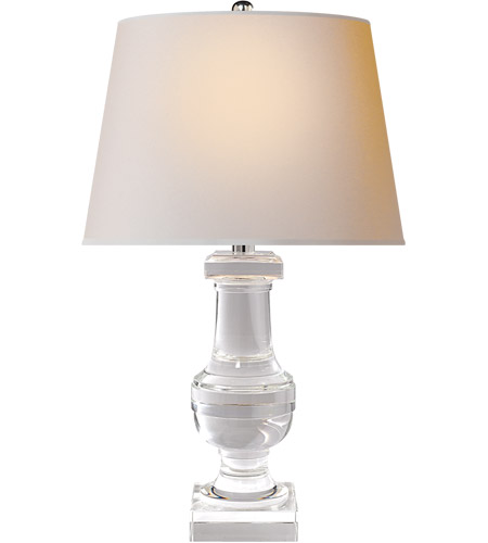 Visual Comfort SL3339CG-NP E F Chapman Balustrade 29 inch 150 watt Crystal Decorative Table Lamp Portable Light in Natural Paper photo