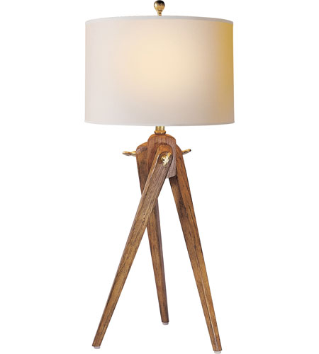 Visual Comfort SL3700FW NP E.F. Chapman Tripod 27 Inch 100 Watt French Wax  On Wood Decorative Table Lamp Portable Light