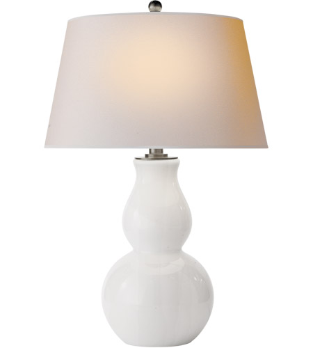 Visual Comfort SL3811WG-NP E. F. Chapman Gourd 30 inch 150 watt White Glass Decorative Table Lamp Portable Light photo