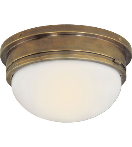 Visual comfort sl4002hab wg e f chapman marine 2 light 13 inch visual comfort sl4002hab wg e f chapman marine 2 light 13 inch hand rubbed antique brass flush mount ceiling light mozeypictures Images