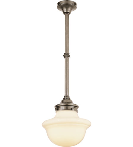 Visual comfort sl5121an wg ef chapman school house 1 light 15 visual comfort sl5121an wg ef chapman school house 1 light 15 inch antique nickel pendant ceiling light mozeypictures Images