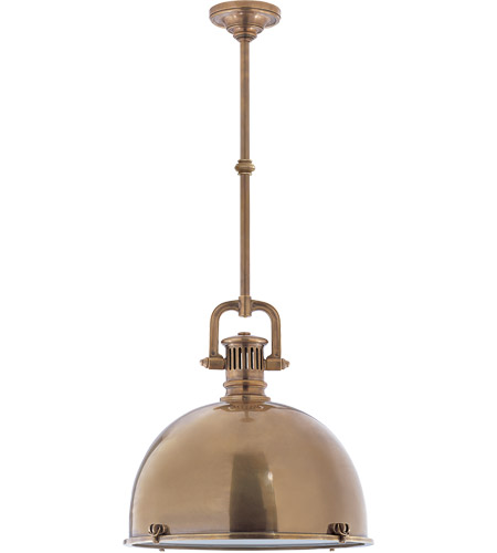 Visual Comfort SL5175HAB-HAB1 E. F. Chapman Yoke 1 Light 18 inch Hand-Rubbed Antique Brass Pendant Ceiling Light photo
