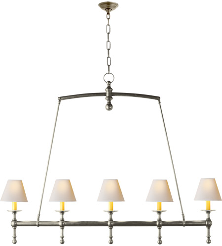 Antique Nickel Island Lights